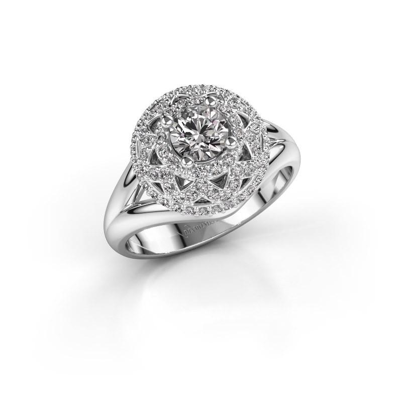 Ring Leonora 585 witgoud diamant 0.88 crt