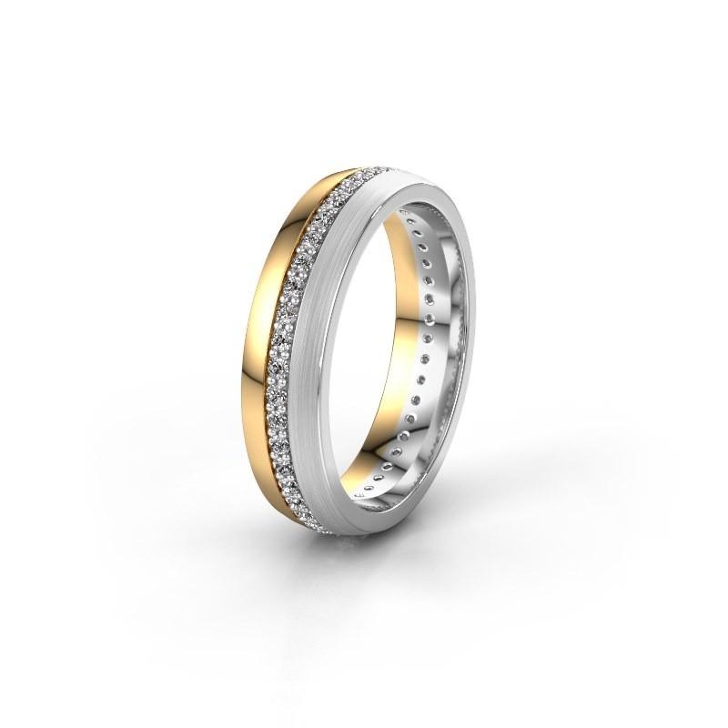 Trouwring WH0203L25BPM 585 goud diamant 0.44 crt ±5x2 mm