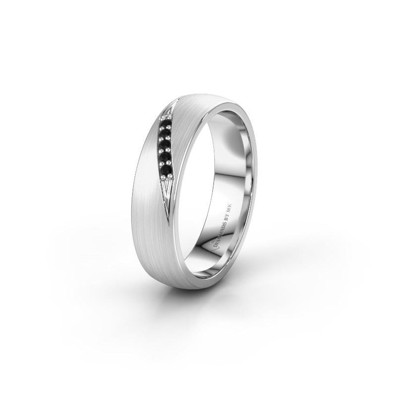 Trouwring WH2150L25AM 925 zilver zwarte diamant ±5x1.7 mm