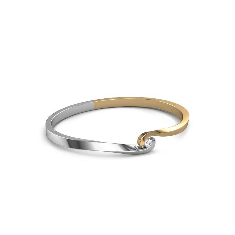 Slavenarmband Sheryl 585 goud diamant 0.20 crt