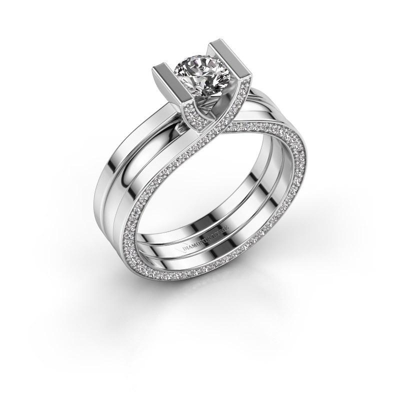 Ring Kenisha 585 witgoud diamant 1.08 crt