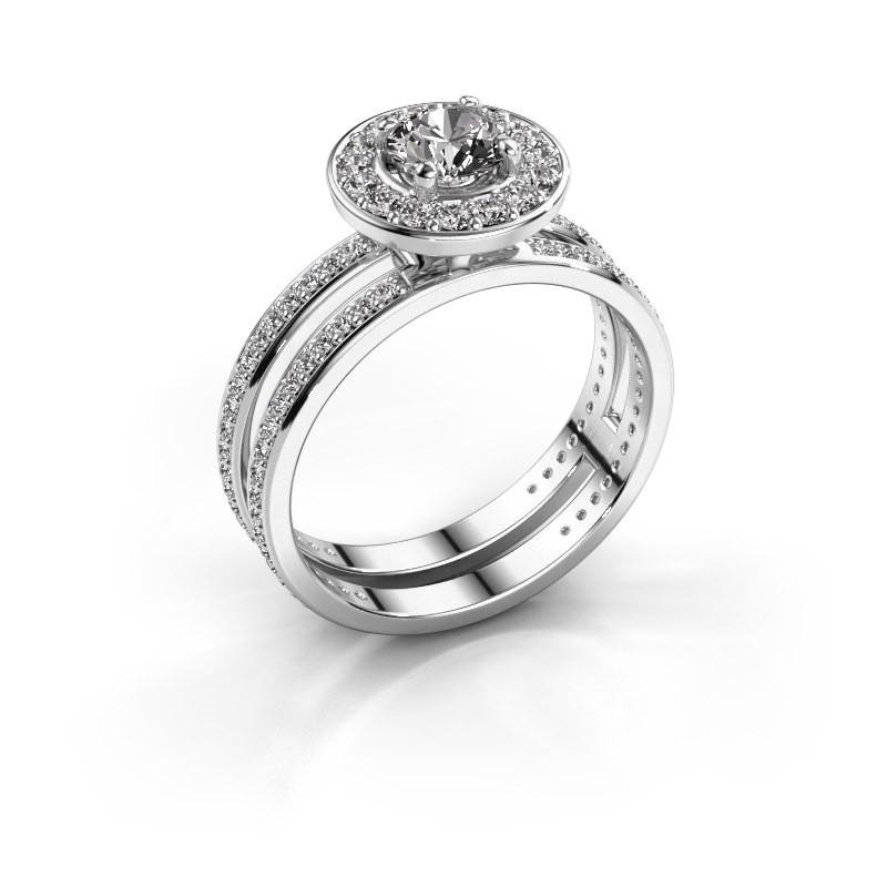 Promise ring Shila 585 witgoud diamant 1.092 crt