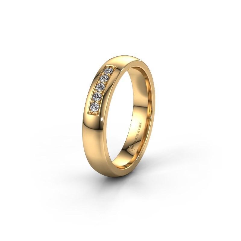 Trouwring WH0111L24BP 585 goud diamant ±4x2 mm