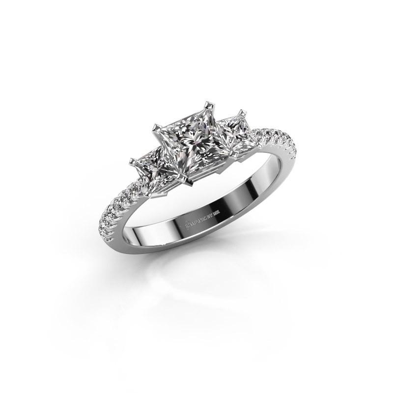 Verlovingsring Dorla 585 witgoud diamant 1.449 crt