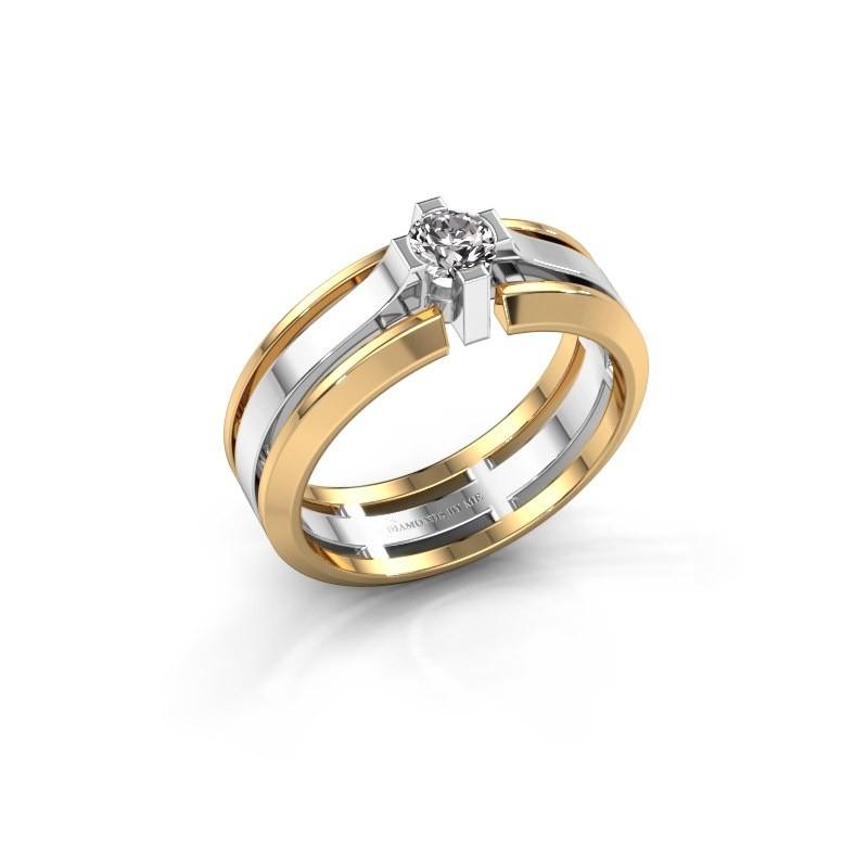 Heren ring Sem 585 witgoud diamant 0.40 crt