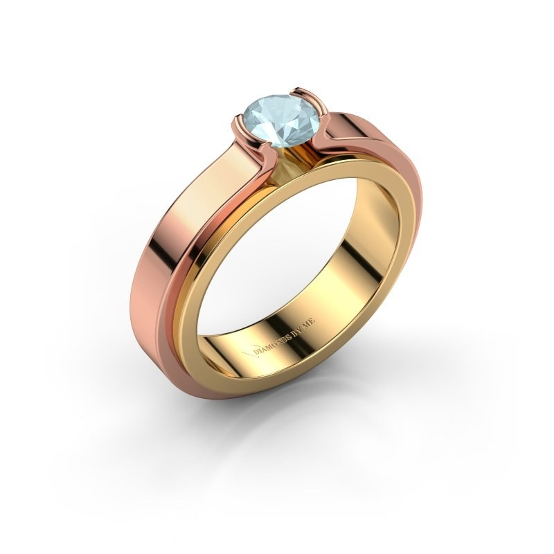 Engagement ring Jacinda 585 gold aquamarine 4.7 mm