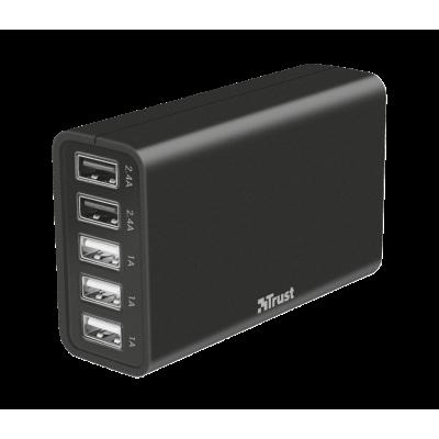 Foto van Trust | 5-poorts USB ultrasnelle oplader voor smartphones & tablets
