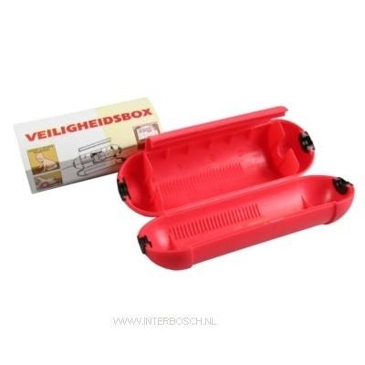 Stekkersafe/Veiligheidsbox Rood