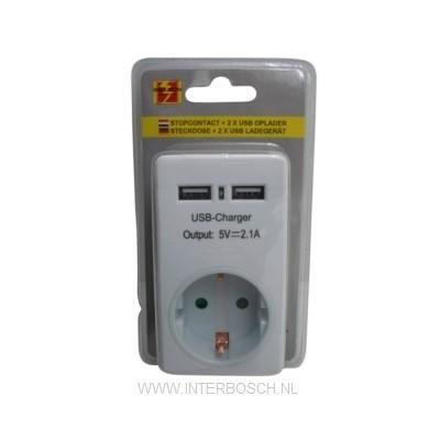 Stopcontact Met 2 X Usb Oplader