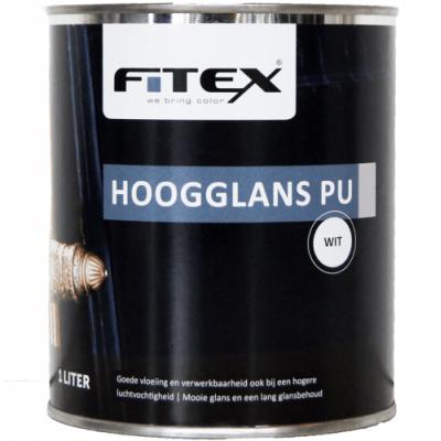 Fitex Hoogglans PU Wit 2,5L