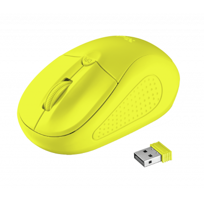 Trust Primo Wireless Mouse - neon yellow 22742
