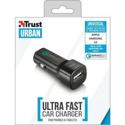 Trust 21064 oplader voor mobiele apparatuur Auto Zwart