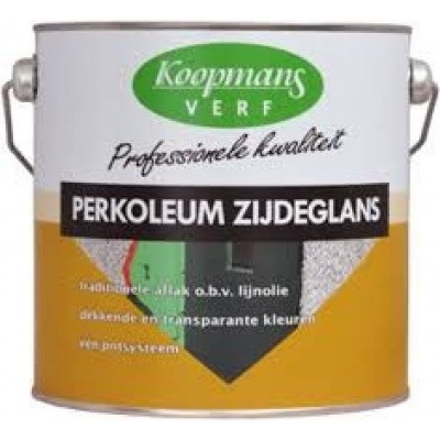Foto van Koopmans Perkoleum Zijdeglans Zwart 2,5L