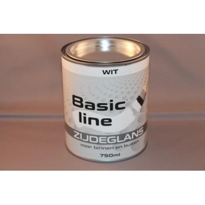 Foto van Basicline Wit Zijdeglans 750ML