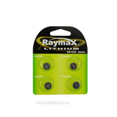 Raymax Lithium Knoopcel Batterij CR1220 3V
