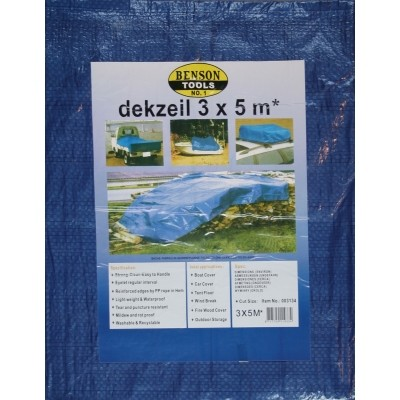 Dekzeil 3*5M Blauw