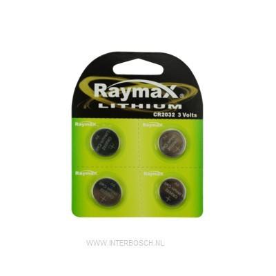 Raymax Lithium Knoopcel Batterij CR2032 3V