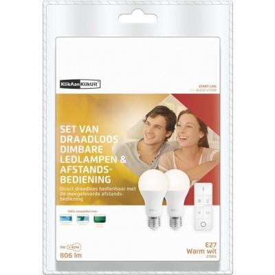 KlikAanKlikUit Draadloze Dimbare LED-lampen met Afstandsbediening - ALED2-2709R NL