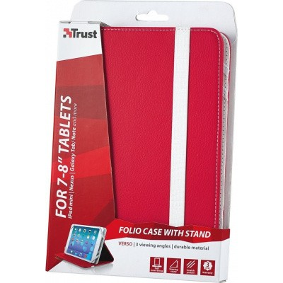 Trust Verso - Universele Tablethoes - 7-8 inch - Rood