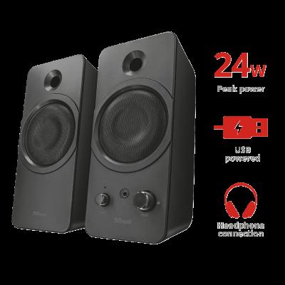 Foto van Trust Zelos 2.0 Speaker Set for pc and laptop 21748