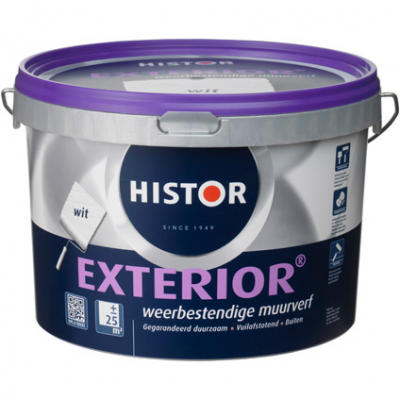 Histor Exterior Muurverf Wit 2.5L