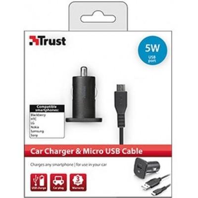 Trust Autolader met Micro USB Kabel - 5W
