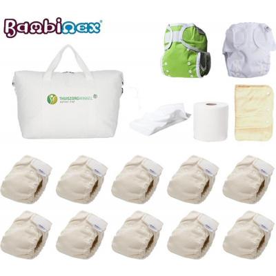 Bambinex® | Compleet pakket wasbare luiers | Extra Inleggers | Fleecedoekjes | Inlegvellen | tas