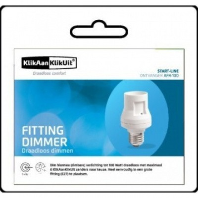 KlikAanKlikUit Fitting inclusief Dimmer - AFR-100
