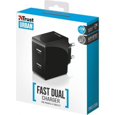 Trust 2 Poorts USB Thuislader