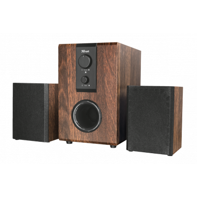 Trust Silva | Speakerset met subwoofer | Hout | 2.1 kanalen | 32W | Voor PC & laptop