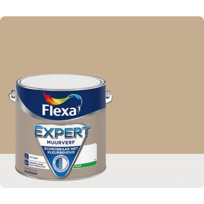 Foto van Flexa Expert | Muurverf Mat | 301 Zandbeige | 2,5 liter