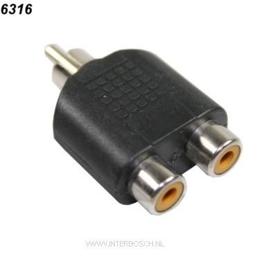 Plug 1*Tulp => 2*Contra