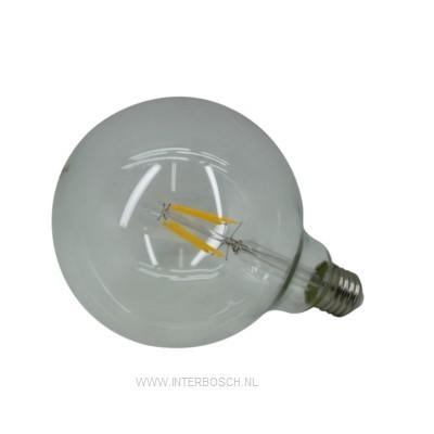 Ledlamp Globe Cob Gloeidraad G125 6W E27