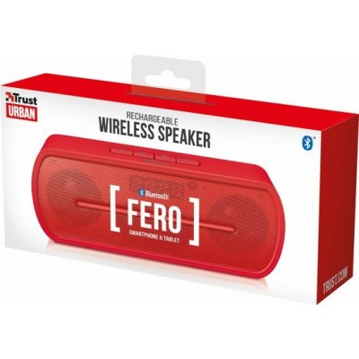 Foto van Trust Urban Fero - Bluetooth Speaker - Rood
