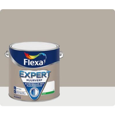 Foto van Flexa Expert | Muurverf Mat | 203 Beigebruin | 2,5 liter