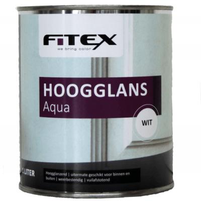 Foto van Fitex Hoogglans Aqua Gemengd 1L