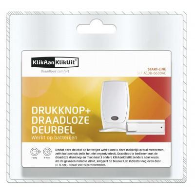 KlikAanKlikUit Draadloze Deurbel met Drukknop - ACDB-6600AC