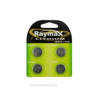 Raymax Lithium Knoopcel Batterij CR2016 3V