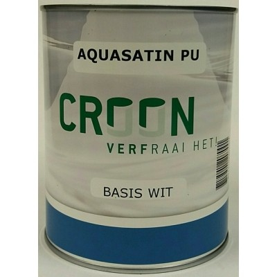 Foto van Croon Aquasatin PU Wit 1L
