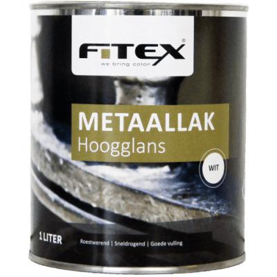 Fitex Hoogglans Metaallak Wit 1L