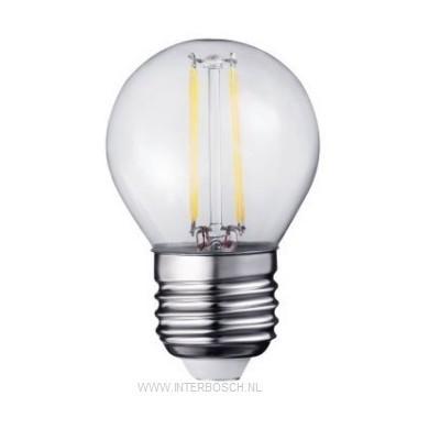 Led Lamp Bol Filament G45 2W E27