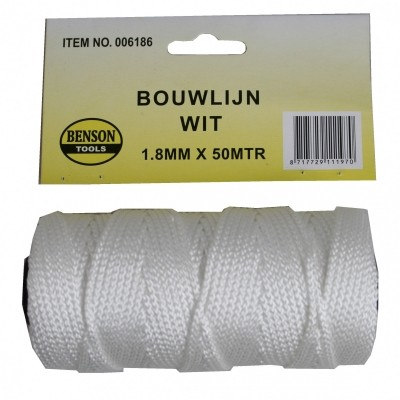 Touw Bouwlijn Wit 1.8*50M