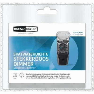 Foto van KlikAanKlikUit Stekkerdoos met Dimmer voor Buiten - AGDR-200 (NL)
