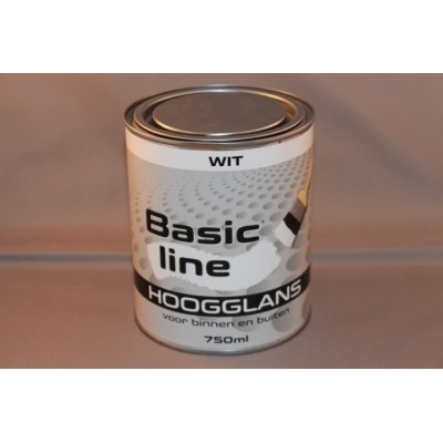 Basicline Wit Hoogglans 750ML