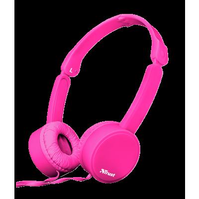 Trust Nano Foldable Headphones - pink 23102