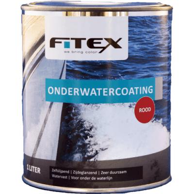 Foto van Fitex Onderwatercoating Rood 1L