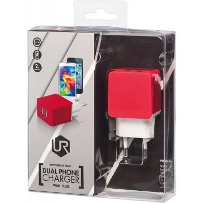 Trust Urban - Dual USB Thuislader - Rood