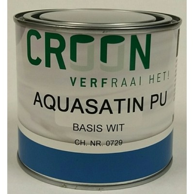 Foto van Croon Aquasatin PU Wit 500ML