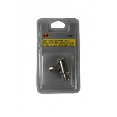Coax Plug Metaal Man Radio / BC