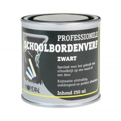 Foto van Mondial Schoolbordenverf Zwart 250ML